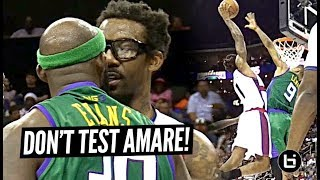 Amare Stoudemire Gets HECKLED By Trash Talker & RESPONDS With INSANE POSTER DUNK at Big 3! Video