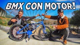 CREAMOS UNA BMX CON MOTOR DE GASOLINA - Sorpresa a mi hermano!!