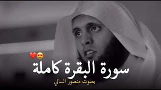 سورة البقرة كامله بصوت منصور السالمي هدوء لايوصف ♥️ || Quran Surah Al Baqara Mansour Al Salmi