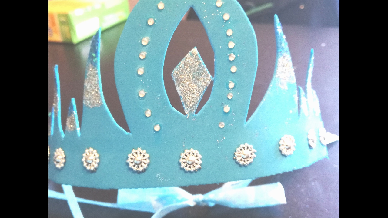 Diy couronne princesse reine des neiges youtube - Princesse des neiges ...