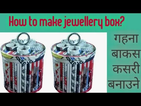 Video nep how to make newspaper jewellery box