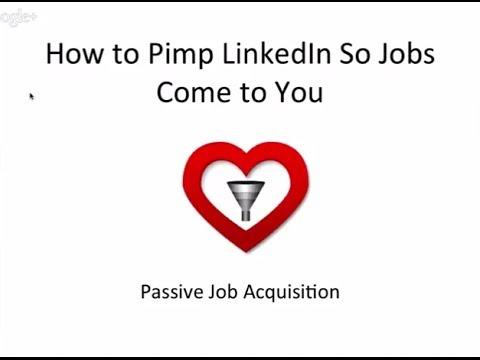 Online Job Attraction: How To Make Jobs Find You Using LinkedIn