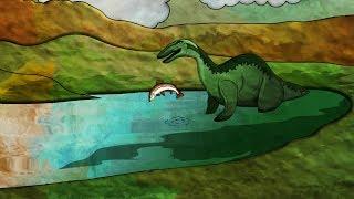 Доисторические животные хищники. Динозавр Baryonyx. Детская анимация на канале как сделать мультик.