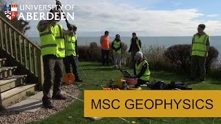 MSc Geophysics degree programme at the University of Aberdeen.