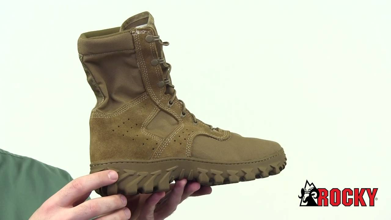 on feet shots of lower price with meet Rocky S2V Enhanced Jungle Boot Style# - RKC049 - YouTube