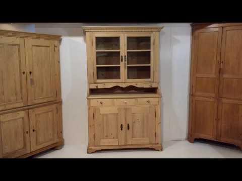 19th Century Glazed Antique Farmhouse Dresser - Pinefinders Old Pine Furniture Warehouse