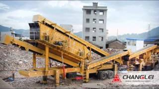 mobile stone crusher/tailings mineral aggregate recycling equipment made by SCL