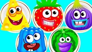 Fun Baby Learn Colors Kids Game - Kids Learn Number, Shapes With Funny Food 2 - Educational Video