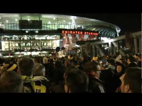 Arsenal vs Dortmund 2-1 Stimmung/Atmosphere Borussia Dortmund BVB London