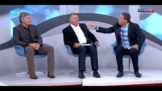Luxemburgo se irrita e discute com Cleber Machado e Caio em Programa da Sportv