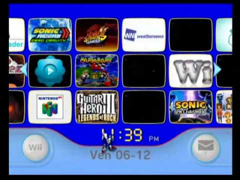 Custom Menu Wii, Sonic Theme V3 !