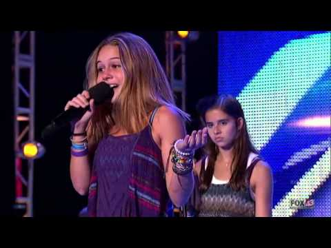 Bea Miller vs Carly Rose Sonenclar in Bootcamp on The X Factor U.S. 2012 [Season 2]