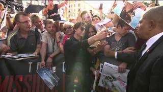 Mission Impossible 5 Rogue Nation Vienna Red Carpet - Tom Cruise, Simon Pegg, Rebecca Ferguson