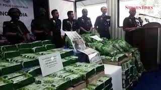 Federal police make biggest drug haul this year at KLIA