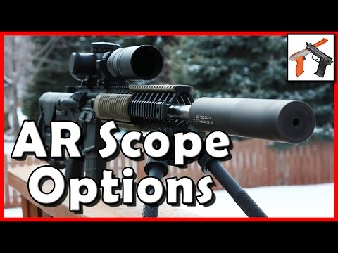 AR 15 Optics Recommendations!  Cheap & Mid Range Magnified Scopes (MTAC vs Strike Eagle v Viper PST)