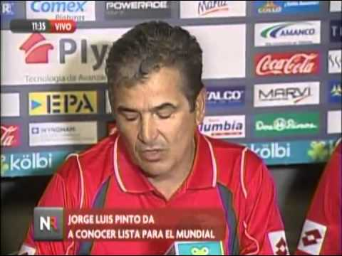 Pinto da a conocer lista para el Mundial