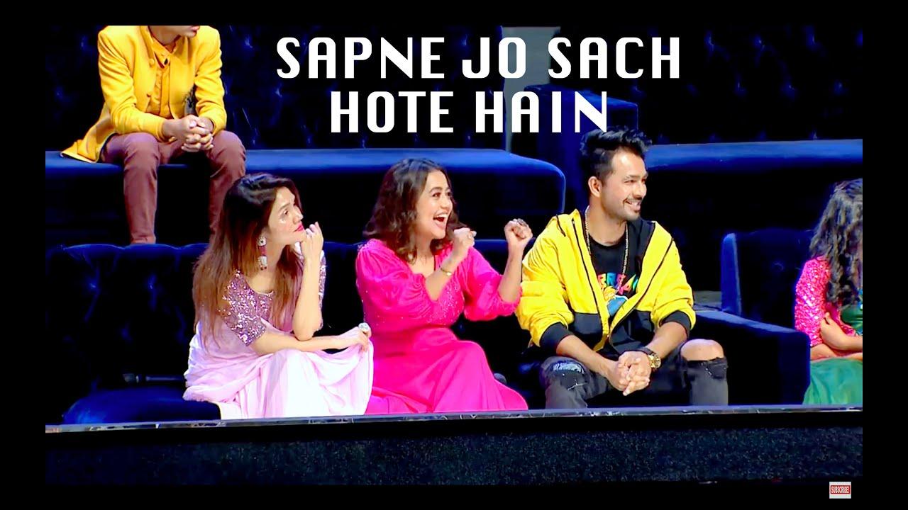 Sapne Jo Sach Hote Hain, Sonu Kakkar, Neha Kakkar &Tony Kakkar On the sets of SAREGAMAPA L'il Champs