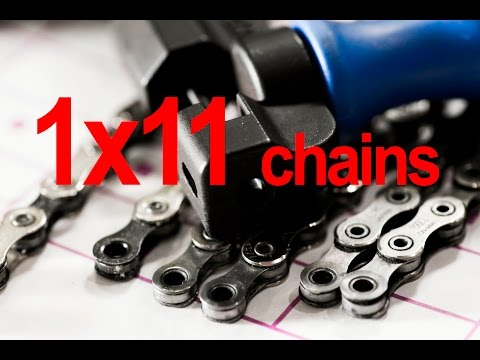 Quick check on the SRAM/ KMC/ Shimano chains used with 1x 11 speed drivetrains