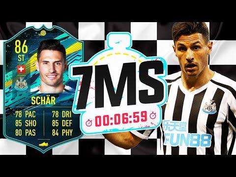 STRIKER 86 PLAYER MOMENTS FABIAN SCHÄR!! 7 MINUTE SQUAD BUILDER! - FIFA 20 ULTIMATE TEAM