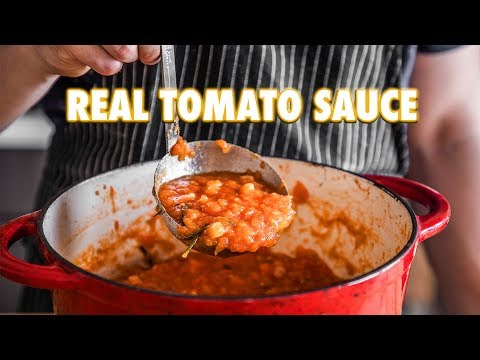 Proper Tomato Sauce Using Fresh Tomatoes (3 Ingredients)