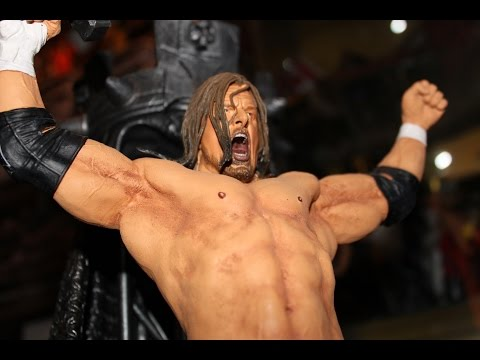 Triple H WWE Icon Series Limited Edition Resin Statue Unboxing