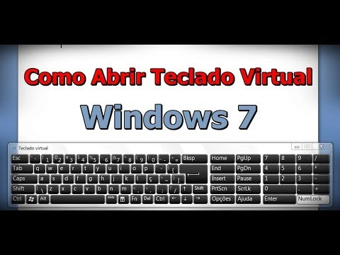 Com Abrir Teclado Virtual - Teclado Virtual Wlndows 7 - Teclado Virtual do Computador - FVM