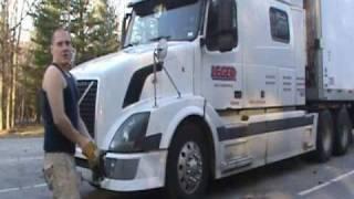 polski kierowca ciężarówki za granicą częsć 11 - przegląd trucka przed jazdą