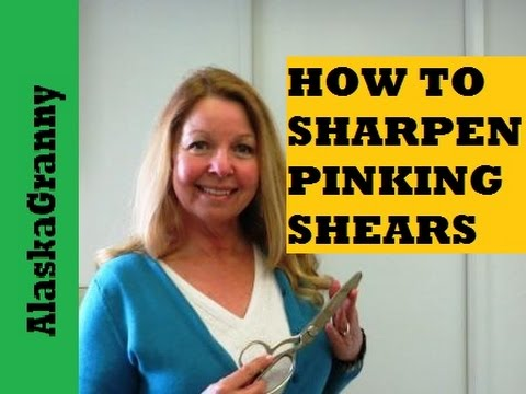 How To Sharpen PInking Shears And Scissors