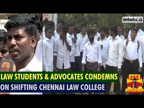 Law Students & Advocate Association Condemns On Shifting Chennai Law College In Viluppuram