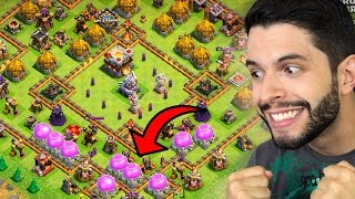 SORTE?! ENCONTREI UMA VILA LOTADA DE RECURSOS NO FARM! - Clash of Clans