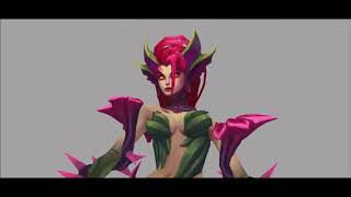 Zyra, Gragas, Brand, Miss Fortune, Shen new walk Animation - League of Legends