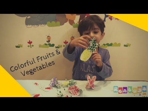 Colorful Dotted Fruits & Vegetables For 3-5 Yrs