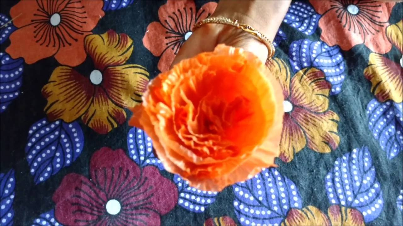 Making beautiful flower with plastic cover carry bag
