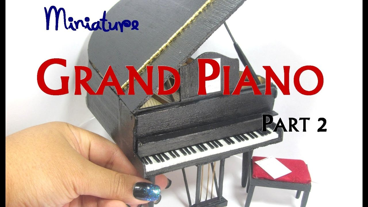 Grand piano miniature dollhouse furniture youtube for Small grand piano size