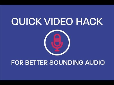 Making Your Video Content Sound Good.