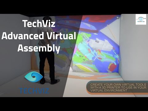Simulate complex mounting/dismounting tasks in VR, with TechViz Advanced Virtual Assembly