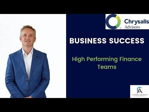 High performing finance team