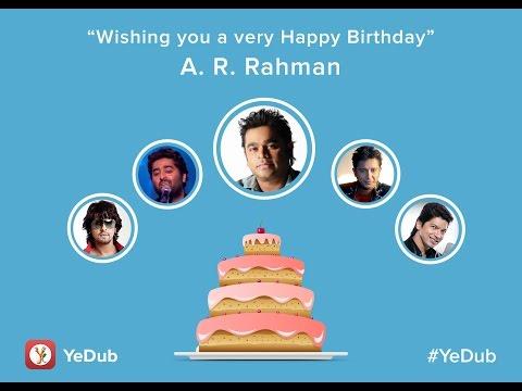 Happy Birthday A. R. Rahman | Birthday Wishes By Anu Mallik, Sonu Nigam, Mika Singh