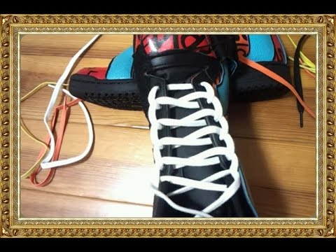これはおしゃれ、簡単、靴ひもの結び方 【はしご結び】子供に人気のスニーカー
