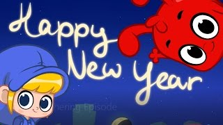 happy new year cartoon for kids with morphle