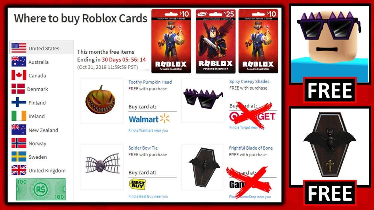 Roblox Put Free Hats As 10 Gift Card Hats Redeem Them Fast
