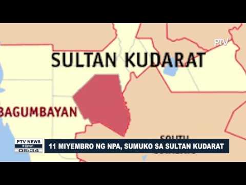 11 miyembro ng NPA, sumuko sa Sultan Kudarat