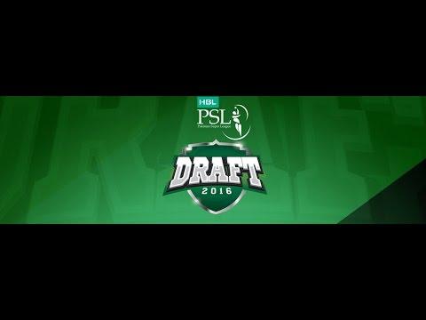 HBL Pakistan Super League Draft 2016