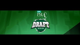 HBL Pakistan Super League Draft 2016