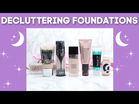 Declutter With Me - Decluttering & Swatching 69 Pale Skin Foundations & Concealers