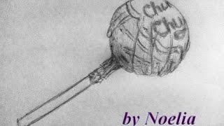 How to draw Chupa Chups /как нарисовать  конфету леденец чупа-чупс