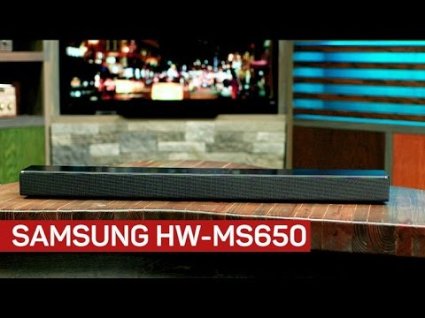 Samsung's HW-MS650 sound bar is compact and feature-rich