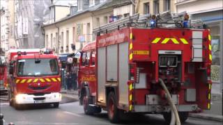Pompier de PARIS INCENDIE NORD DE PARIS ( Paris Fire DEPT on SCENE  Fire )