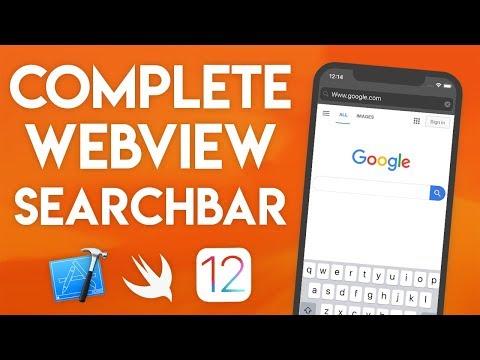 Swift 4.2 Xcode Tutorial - Web View Search Bar Part 3 - iOS 12 Geeky Lemon Development thumbnail