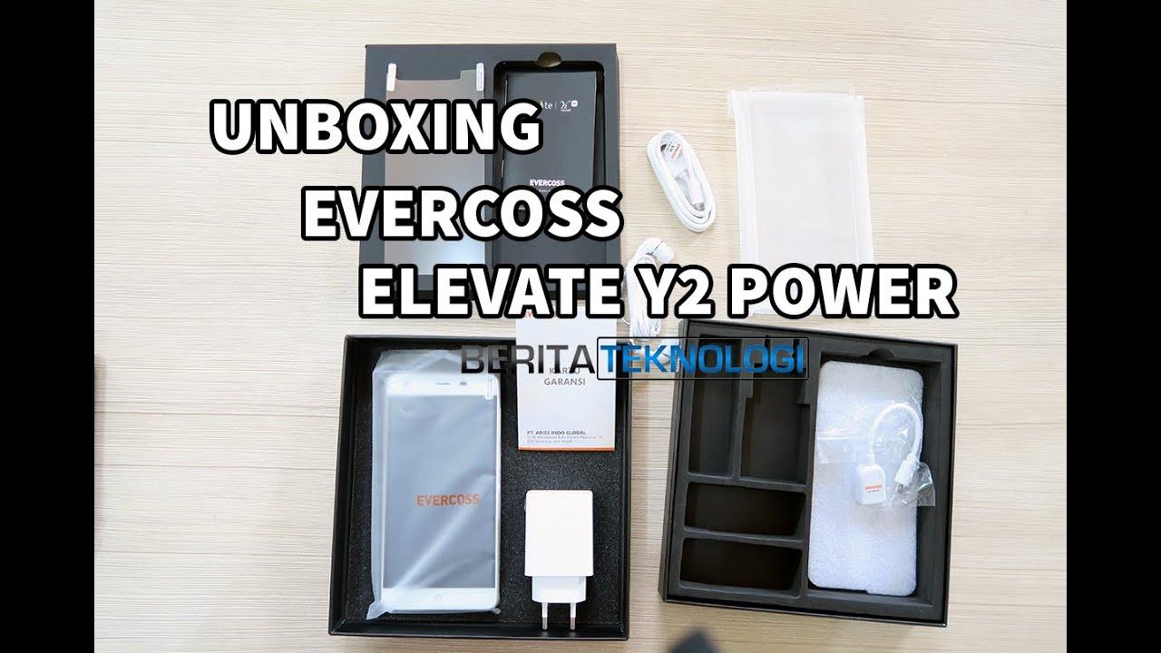 Unboxing Evercoss Elevate Y2 Power Indonesia Dg Baterai 6200 MAh Review Awal Singkat